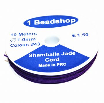 Deep Purple 43 10 Metres x 1.0mm Jade Cord JSC-10-1.0-43 / S.B